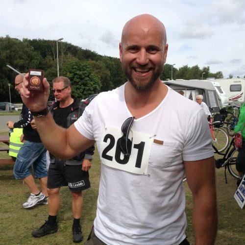 Österlenrundan 2016 - en glad Daniel Cederholm som cyklat 10 gånger